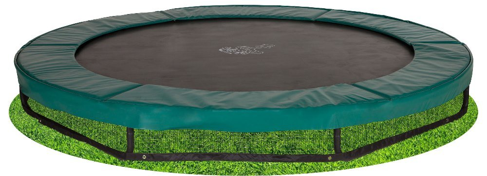 Bodentrampolin Magic Circle Pro 305 cm Grün