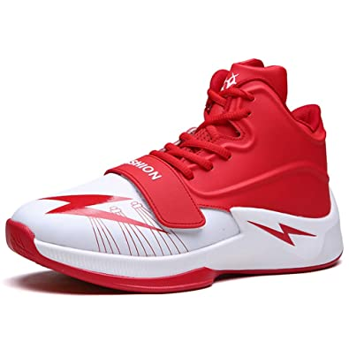 3ba675b0671d61 Qianliuk Men Basketball Shoes Breathable Outdoor Athletic Training  Cushioning Non-Slip Ankle Sport Boots Male Sneakers  Amazon.co.uk  Shoes    Bags