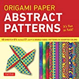 """Origami Paper - Abstract Patterns - 8 1/4"""" - 48 Sheets: (Tuttle Origami Paper)"""