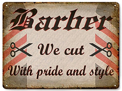 Medieval Vintage Metal Sign - Barber Shop METAL SIGN wall vintage MEDIEVAL antique style local Hair Stylist wall decor art