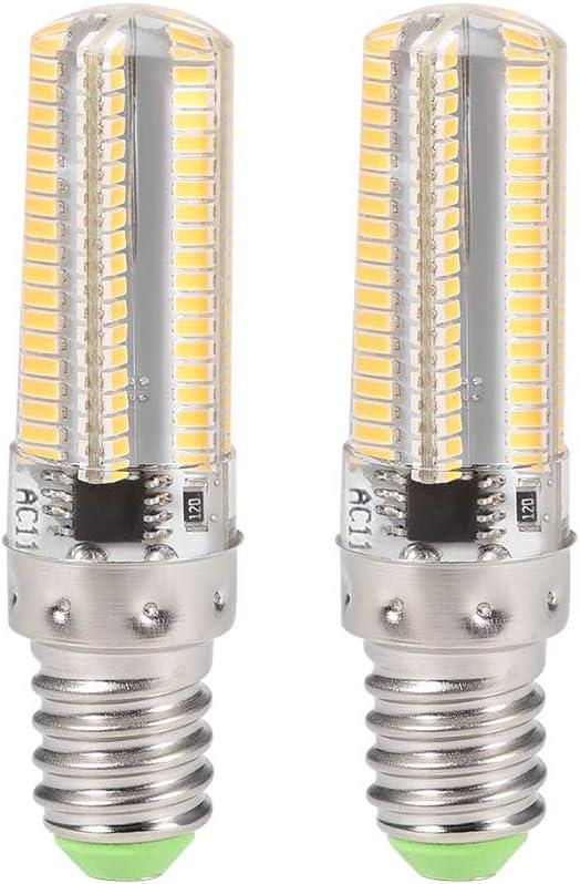uxcell E12 LED Bulb Microwave Oven Light 4W Warm White 2700K 600lm for Ceiling Fan Light Fixture Freezer Hood 2pcs