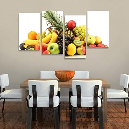 Quadri L&C ITALIA - Frutta 5 - quadro moderno 152x78 cm a 4 pannelli ...