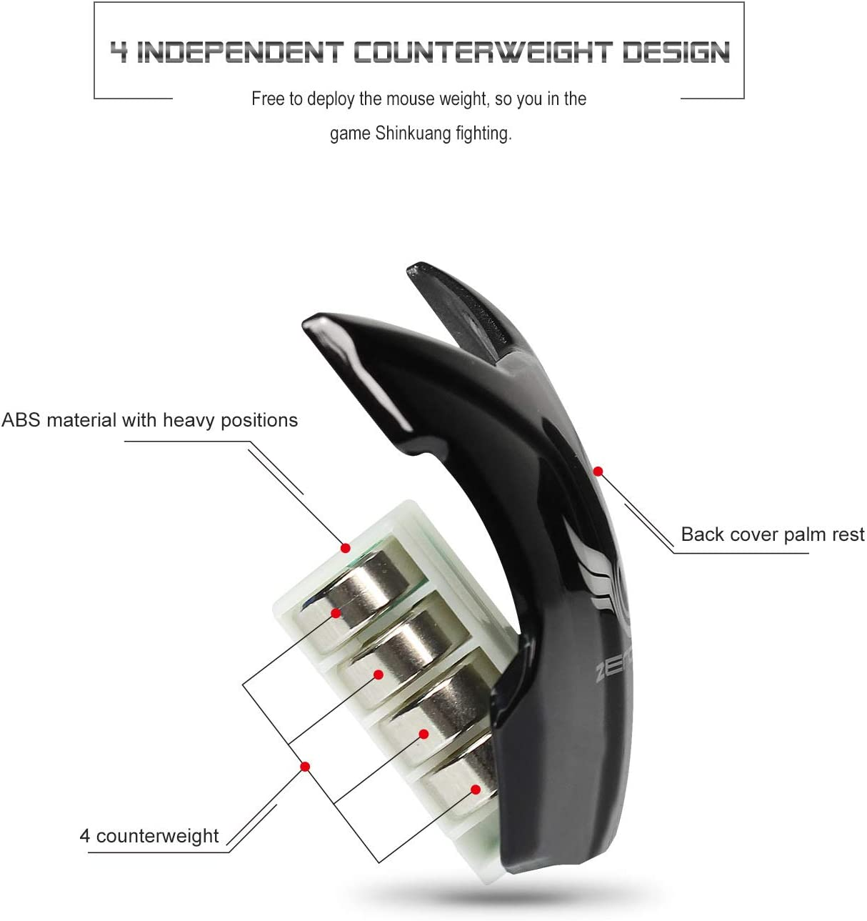 ZUEN Backlit Gaming Mouse Adjustable 4000DPI 8-Key Macro Program Design Retractable Mouse Gaming Mouse