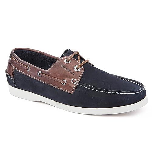 Rafarillo Navy Blue Boat Shoe- Made