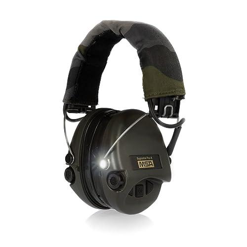 MSA Sordin Supreme Pro X with LED Light Electronic Ear Muff