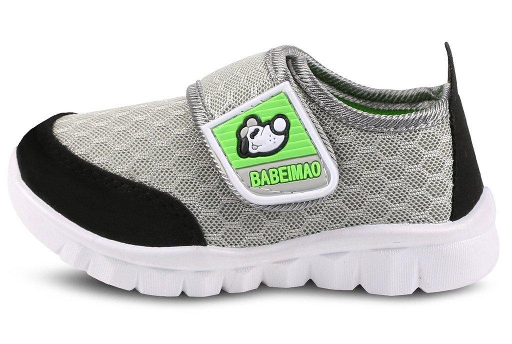 DADAWEN Baby's Boy's Girl's Mesh Light Weight Sneakers Running Shoe Gray US Size 4 M Toddler by DADAWEN (Image #2)