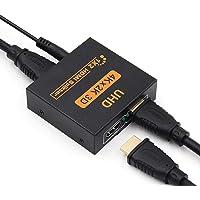HDMI Splitter, HDMI Schakelaar, HDMI Splitter 1 in 2 Out, Full HD 4K 3D HDMI Splitter voor Xbox, PS4, PS3, Roku, Blu-Ray…