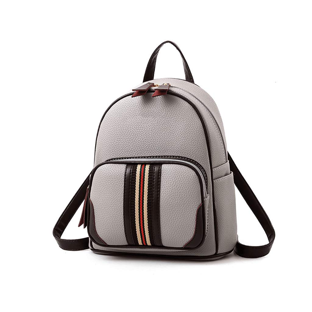 Color : Gray Backpack LCSHAN Fashion Personality Shoulders Versatile Leisure Multi-Purpose