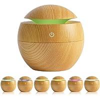 AVEDISTANTE Humidificador de Esencias/Difusor de Aromas con LED de 6 Colores, Difusor Humidificador Perfecta para el…