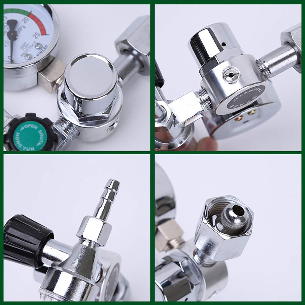 0-25Mpa Regulador de arg/ón CO2 Mig Tig Medidor de flujo Reguladores de gas Medidor de flujo Soldadura Calibrador de soldadura Reductor de presi/ón