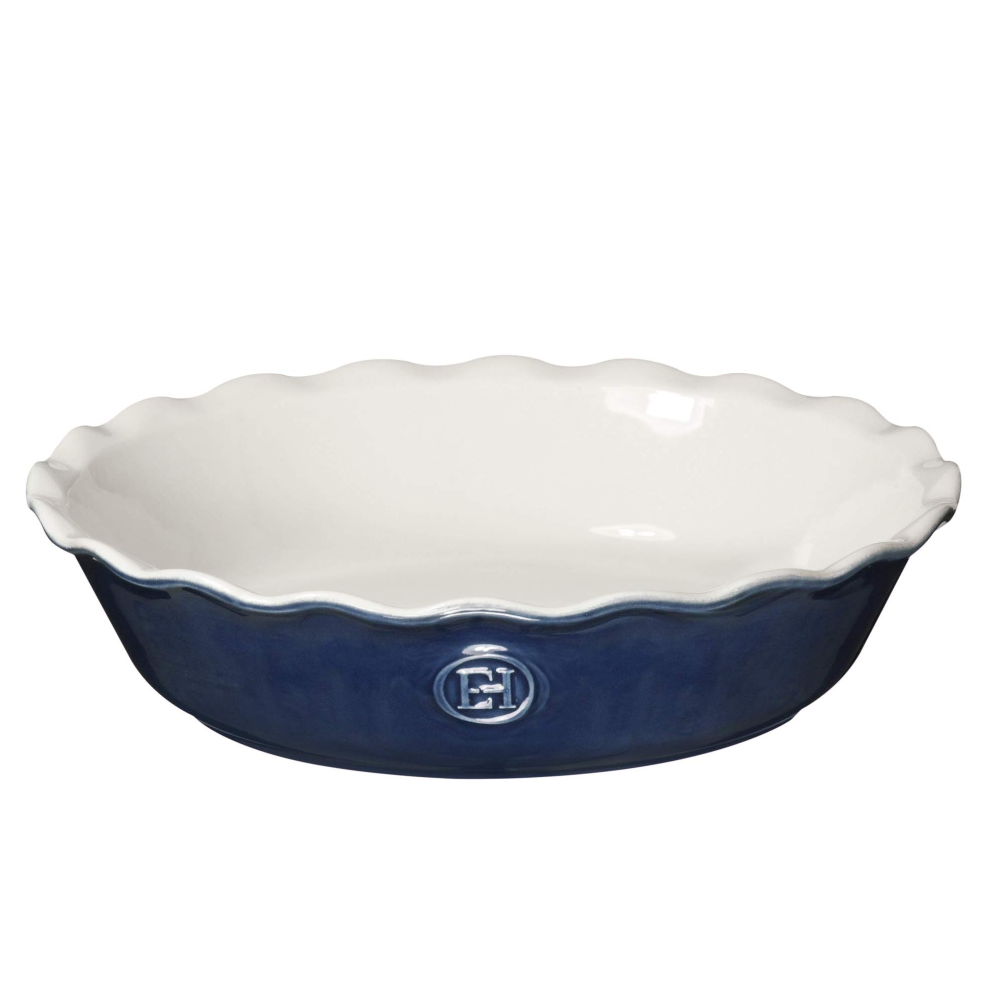 Emile Henry Made In France HR Modern Classics Pie Dish, 9'', Blue by Emile Henry