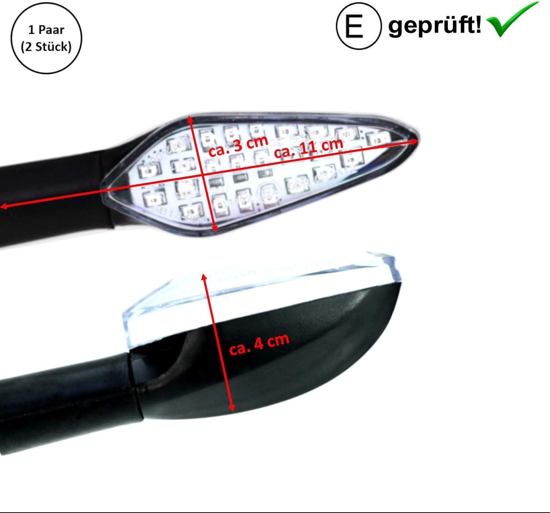 LED Blinker Triump-h Tiger 1050 Explorer E-Gepr/üft // 2St/ück Sport//TT 600 B5