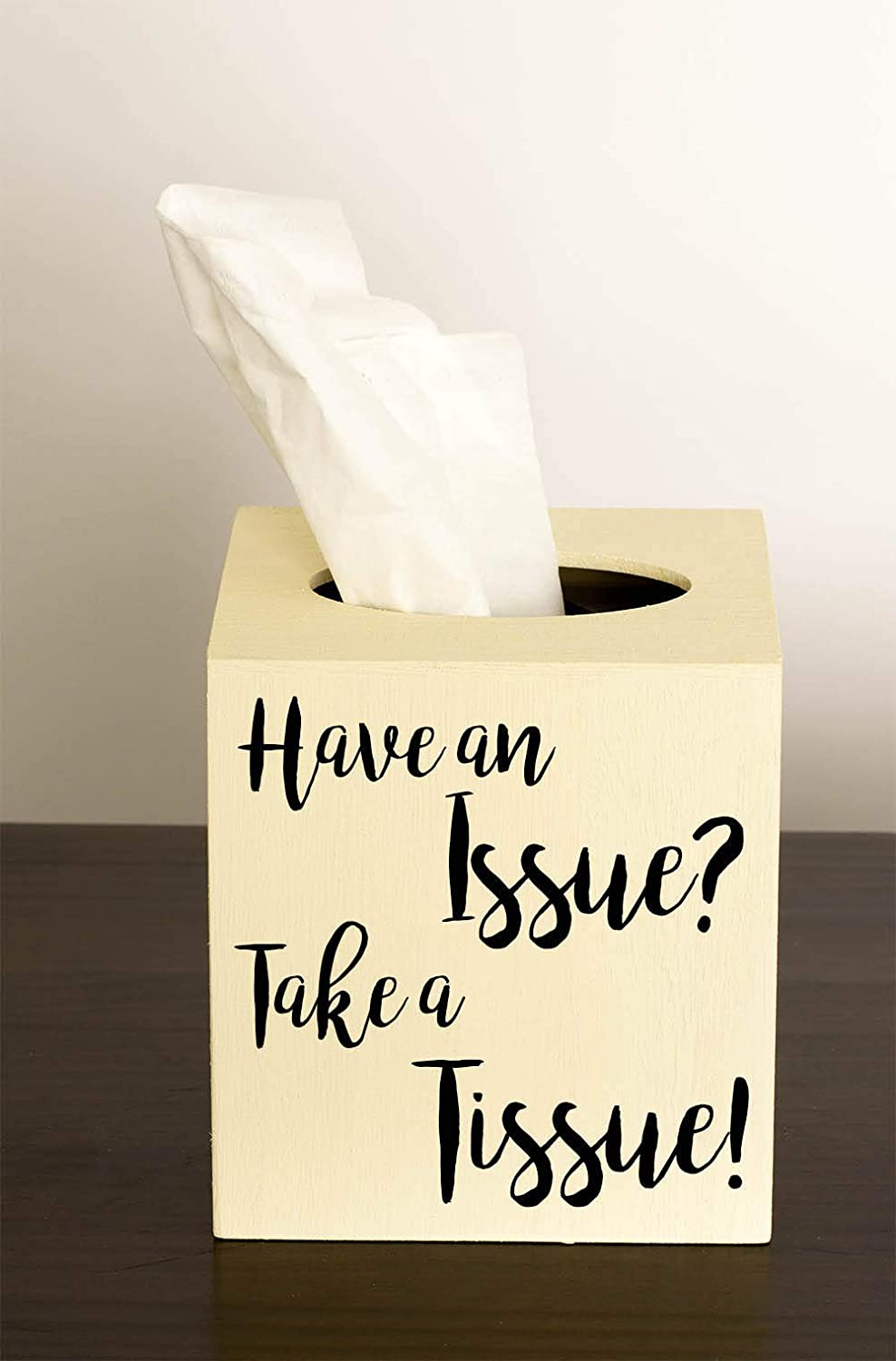 Wood Tissue Box Cover Have an Issue Take a Tissue