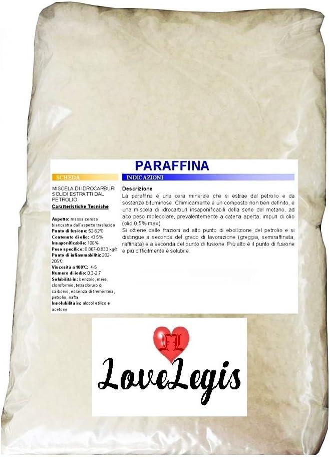 Lovelegis Paraffin wax for candles 1kg drops white