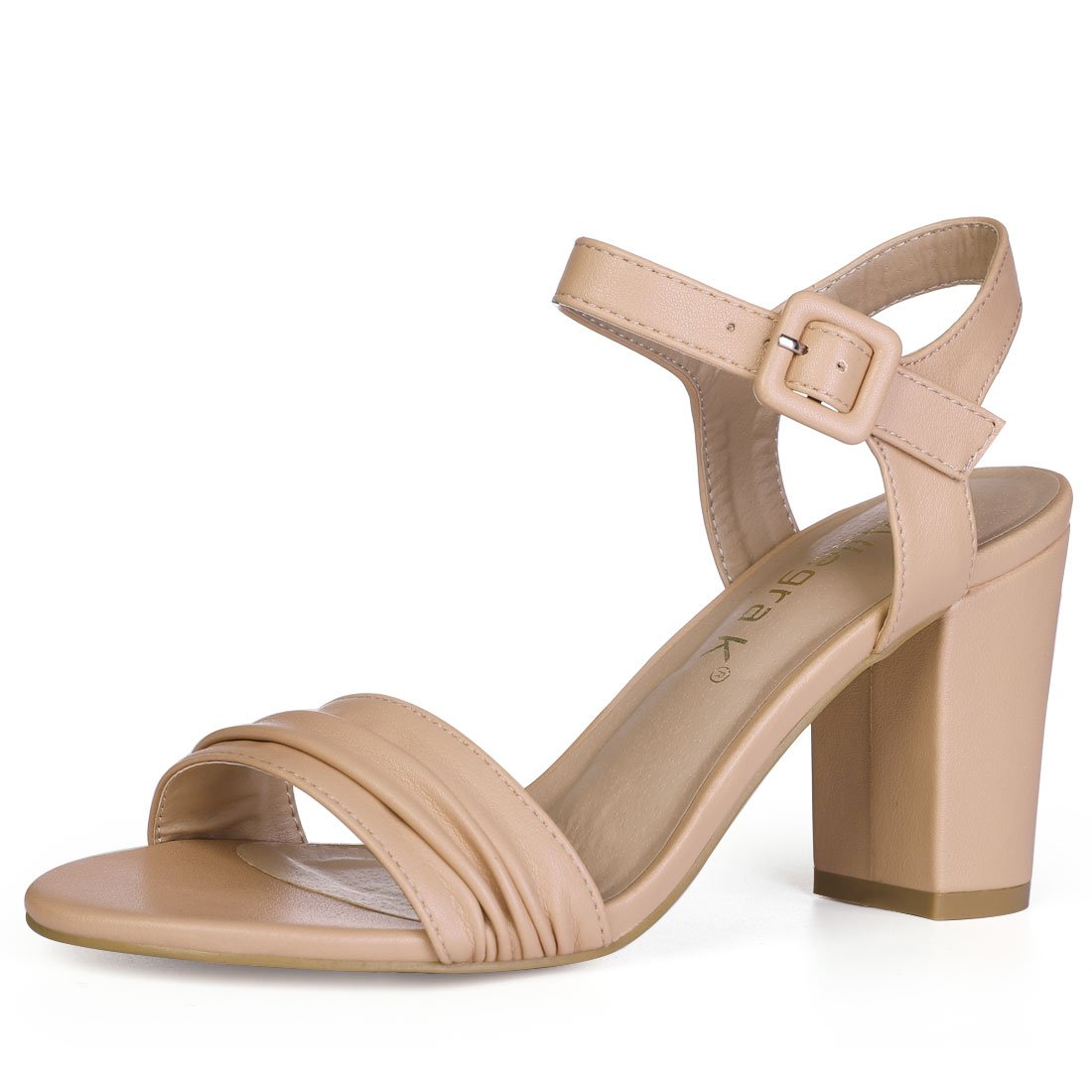 f9003c6c9 Allegra K Women s Ankle Strap Light Brown Sandals - 9.5 M US