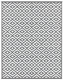 Lightweight Outdoor Reversible Plastic Nirvana Rug (8ft x10 ft, Grey / White)
