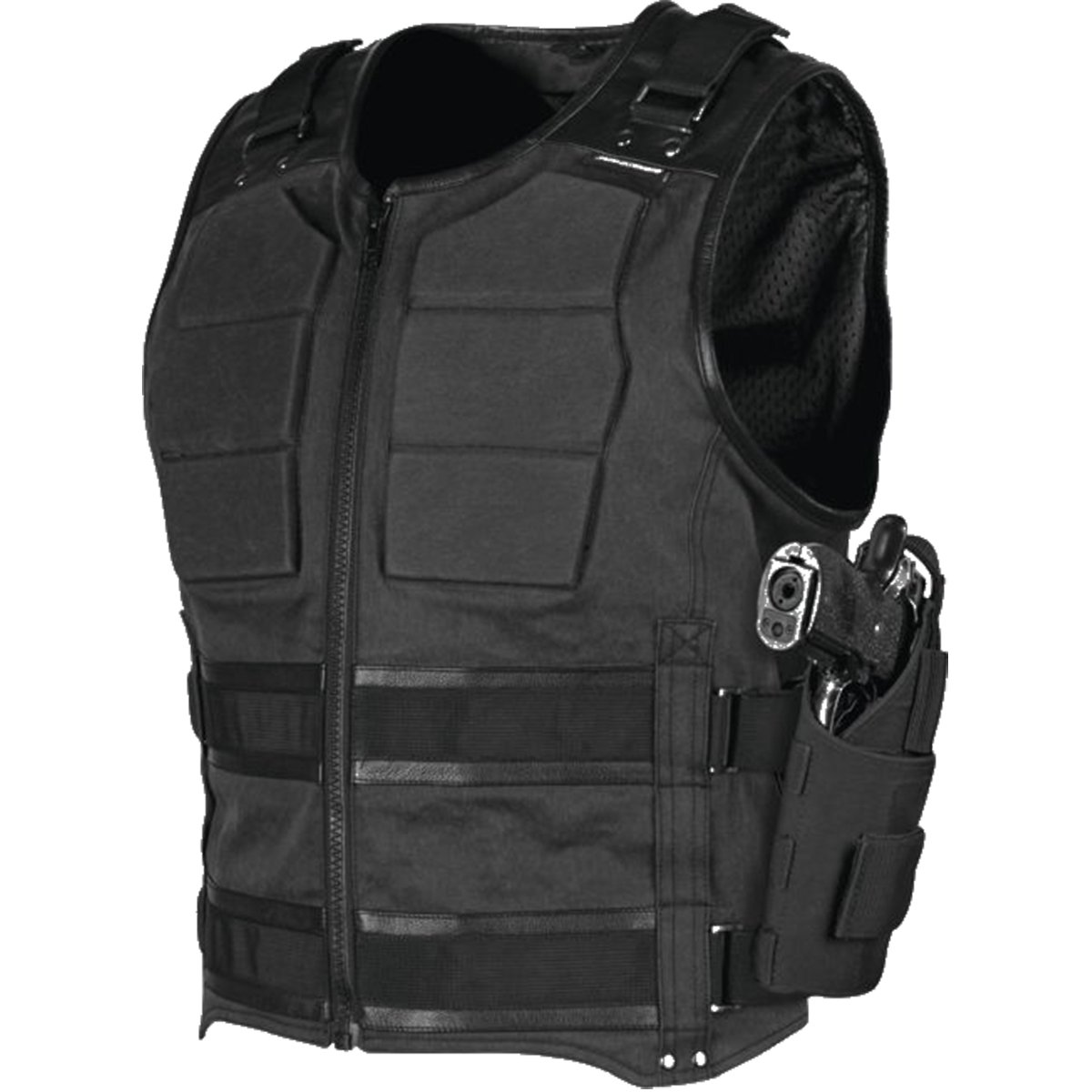 Speed and Strength True Grit Armored Men's MX Motorcycle Vest - Black 3X-Large