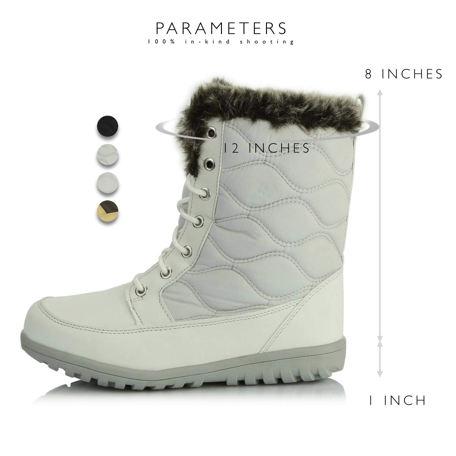 new style c486a bce12 ... DailyShoes Women s Comfortable Round Toe Flat Ankle High Eskimo  Shearling Winter Fur Snow Boots B014QH9CKQ Cold ...