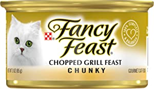 Fancy Feast Chunky Chopped Grill Feast Canned Cat Food, 3-oz, 24 Cans
