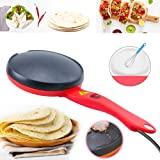 Portable Electric Crepe Maker, 110V Non-Stick Coating Crepe Pan, Auto Temperature Control for Crepes, Pancakes, Bacon, Tortil