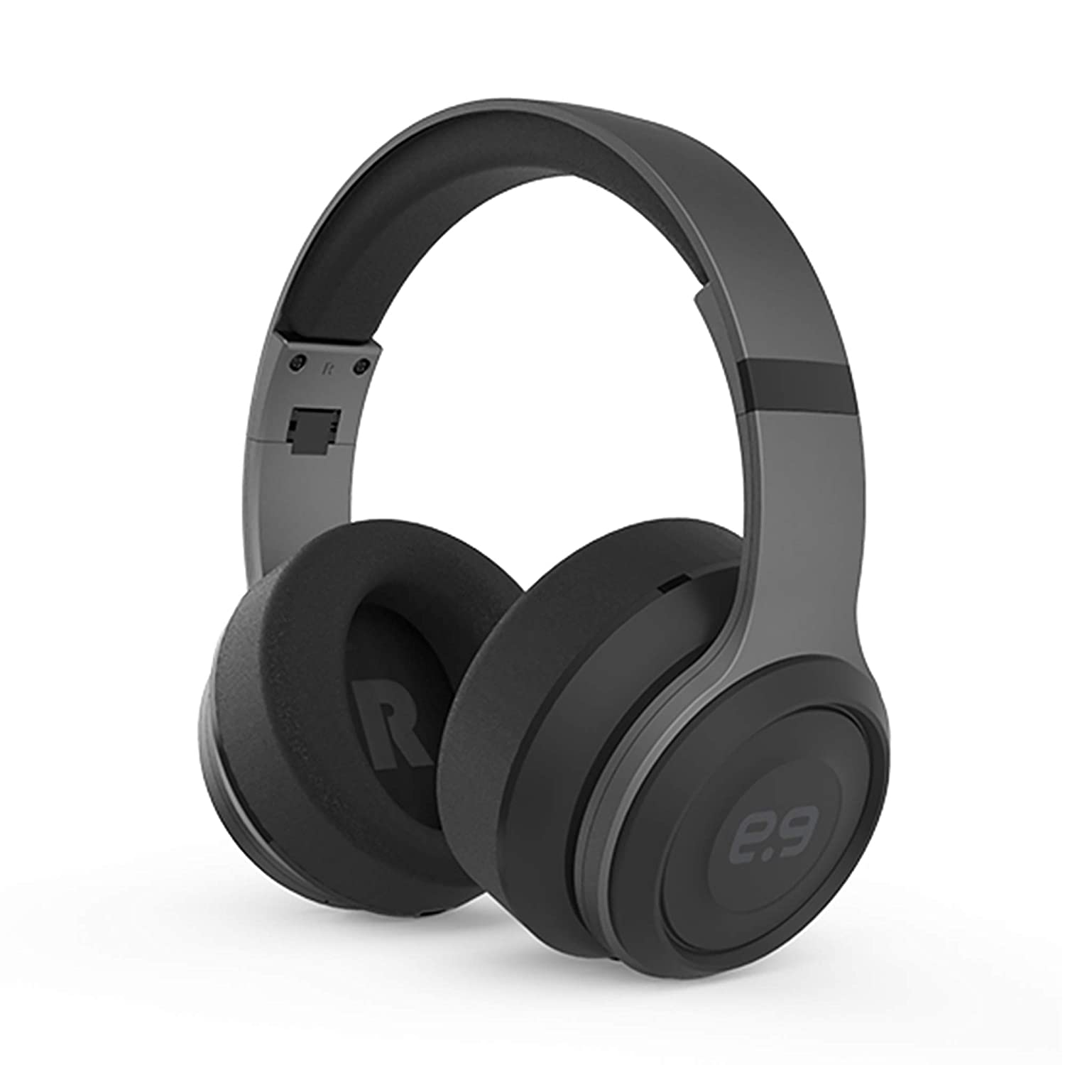 PureGear PureBoom Over Ear Bluetooth Headphones, Wireless Headset, Foldable, Adjustable, Comfortable Protein Earmuffs w/Built-in Mic and Wired Mode for PC/Cell Phones/TV, Gunmetal