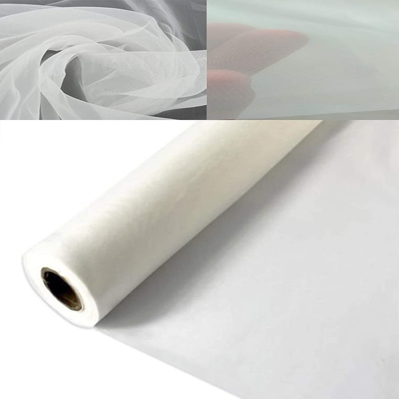3 Yards 1.27 Meters Silk Screen Printing Fabric Mesh Screen Printing Mesh Wide High Tension Mesh Making Ink Supplies 160 Mesh(64T)