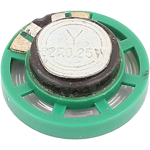 uxcell 0.25 W 16 Ohm DIY Magnetic Speaker 40mm Round-Shape Replacement Loudspeaker Green 2pcs