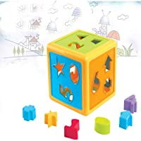 Babyee Kids Toys Plastic Shape Sorting Cube Educational Toys for Kids Non Toxic for Baby and Infants Educational Block Toy for Kids Girls / Boys ( Assorted Color )