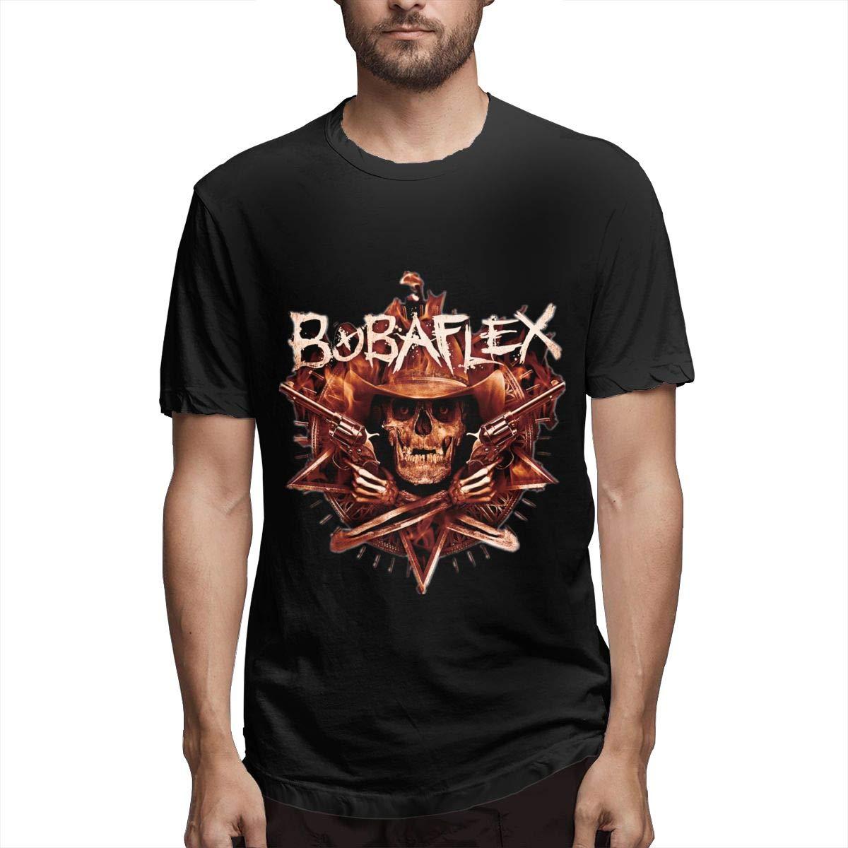 Lihehen Mans Bobaflex Retro Printing Round Neck Tees Shirts