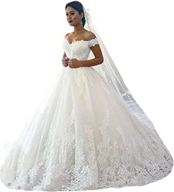 Fanciest Women S Lace Wedding Dresses For Bride 2020 Ball Gowns