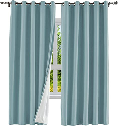 cololeaf Extra Wide Cotton Blackout Curtain