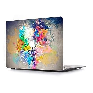 L2W Funda Dura para Apple MacBook Air 13 Pulgadas Modelo A1466/A1369 portátiles Accesorios de plástico Creativo Diseño Rígida Carcasa Bombilla: Amazon.es: ...