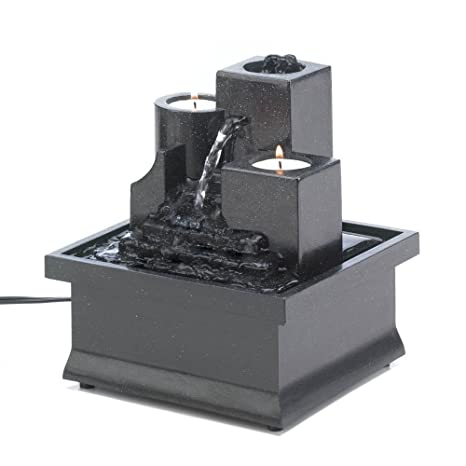 Tabletop Fountain Waterfall, Polyresin Rock Tabletop Water Fountains