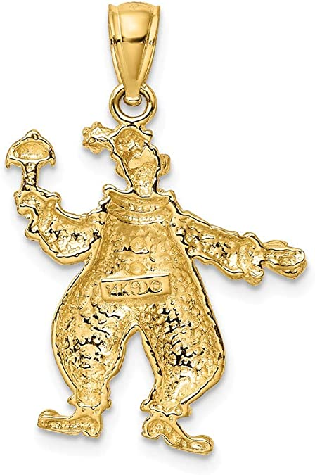 1 x Clown Enamel Gold Plated Pendant Charms