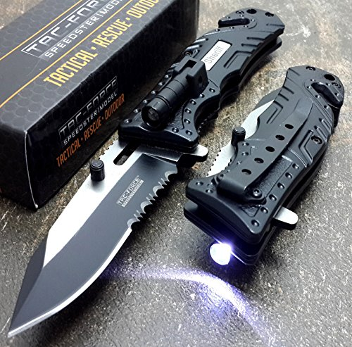 Tac Force Knives Led Light Assisted Opening Rescue Knife