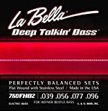 .039-.096 Flatwound Stainless Steel 4-string Beatle Bass Strings
