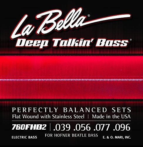(La Bella 760FHB2 Beatle Bass Flatwound Bass Strings - Light)