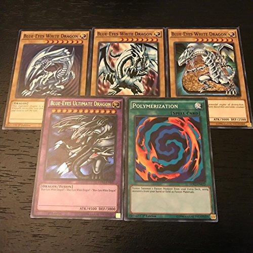 YUGIOH: BLUE-EYES ULTIMATE DRAGON + POLYMERIZATION + WHITE - LDK2 - 5-CARD SET Blue Eyes Ultimate Dragon Card