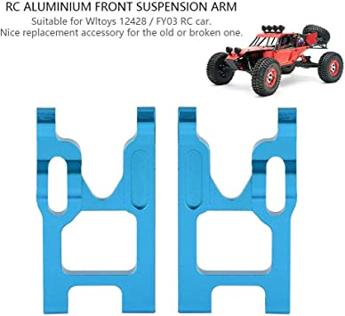 Dilwe Rc Auto Vorderachse 2 Stück Aluminiumlegierung Vorderachse Mit Schrauben Für Wltoys 12428 Fy03 Rc Auto Upgrade Zubehör Blau Spielzeug