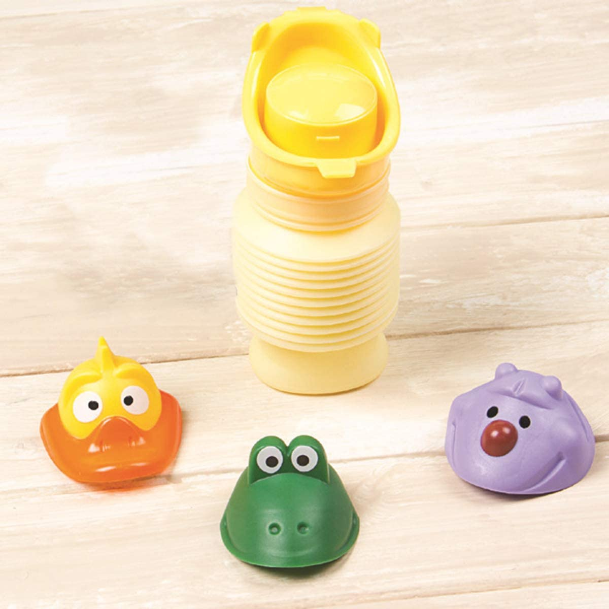 Yudanny Portable Stretchable Child Camping Toilet Potty Travel Emergency Urinal Pee Bottle for Kids Girls Boys