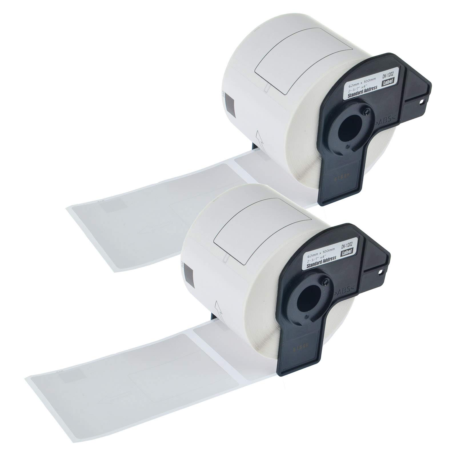 KCYMTONER 2 Rolls of Compatible Brother DK-1202 White Continuous Length Paper Tape Labels 62mm x 100mm (2-3/7'' x 4'') for QL-500 QL-570 QL-580N QL-650TD QL-710W QL-1050 QL-1060N Series