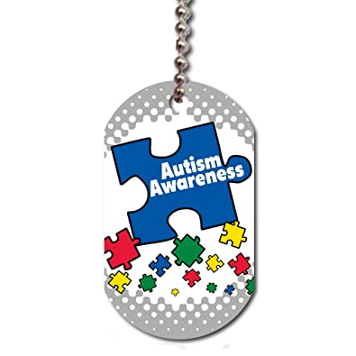 f46789fd93df VICTORYSTORE.COM Dog Tag - Autism Awareness Dog Tag, Support Autism ...