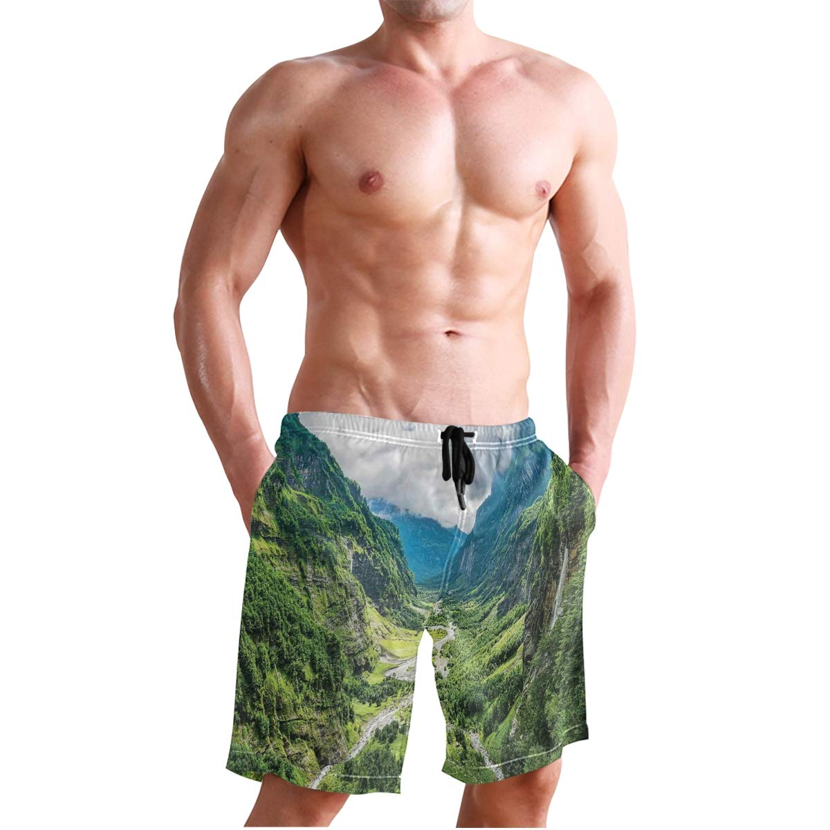 KVMV Valentines Hearts Lovers Forever Together Birthday Marriage Quick Dry Beach Shorts