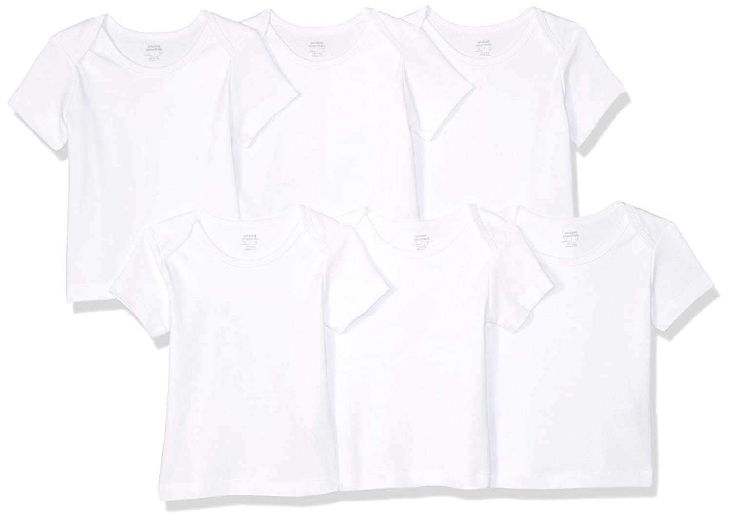 Amazon Essentials Boys' 6-Pack Lap-Shoulder Tee