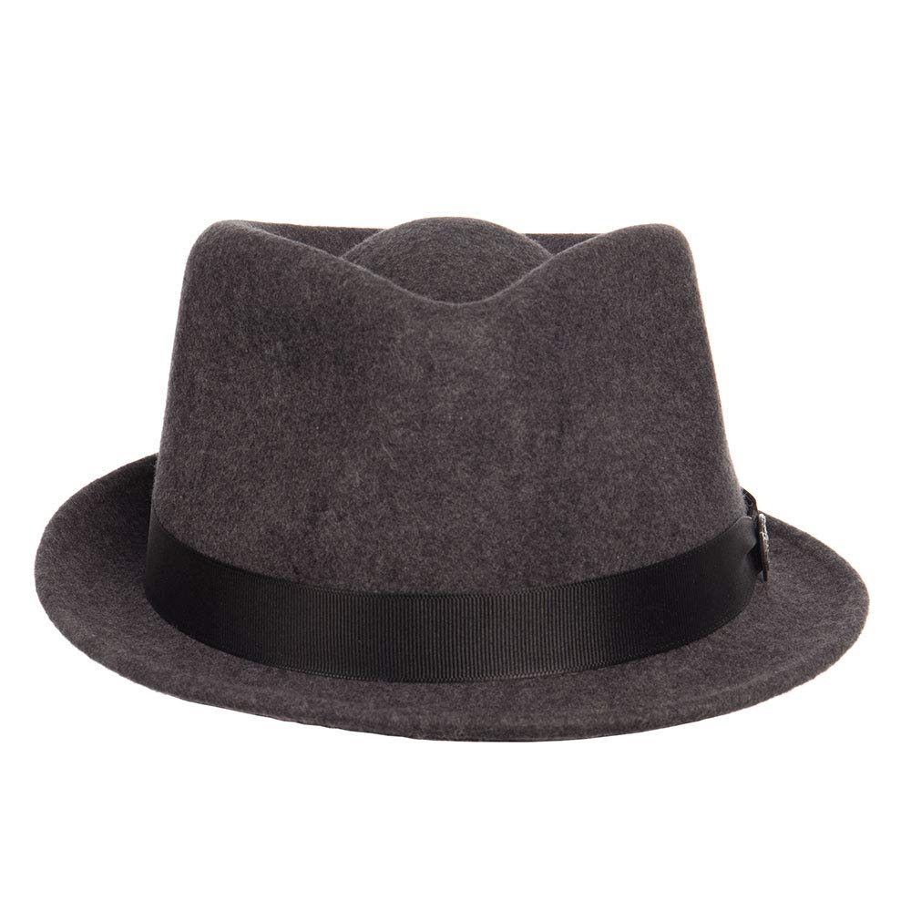 Dobbs Mens Shorty Grey 1 1//4 Brim Fedora