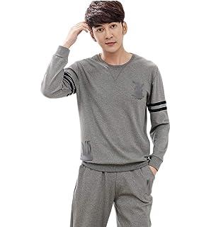 464960c806 Men s Men s Long Sleeve Cotton Pajama Set Casual Comfortable Sport Jogging  Style Pajama Loungewear Homewear Pajamas