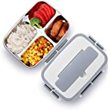 Bento Box, Lunch Box for Kids and Adults, Leakproof Lunch Containers with Removable Stainless-Steel Tray for School Work Outdoors Meals and Snacks, Microwave Safe