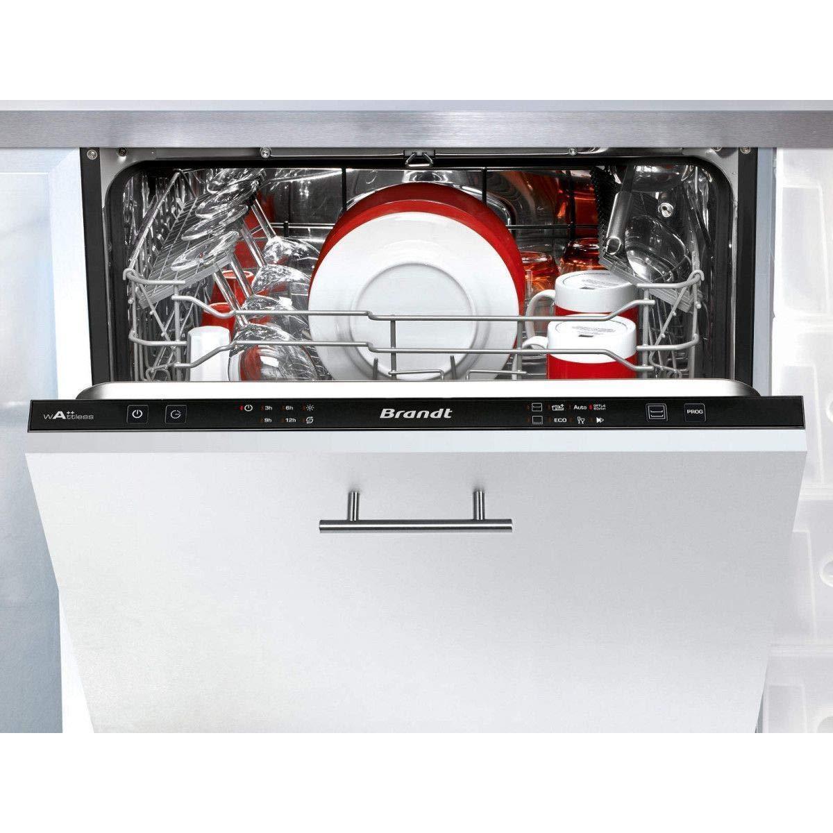 Brandt VH1704J lavavajilla Totalmente integrado 14 cubiertos A++ ...