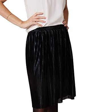 3acb3a46a Ann Taylor LOFT - Women's - Shimmery Pleated Pull-on Skirt at Amazon  Women's Clothing store:
