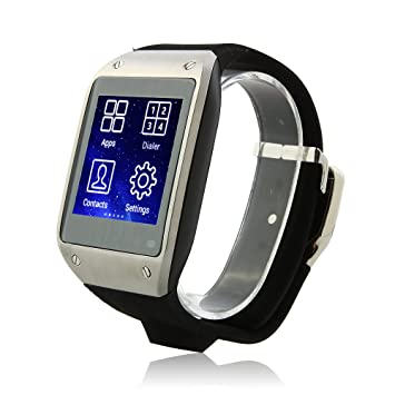 SWatch K2 Reloj con Bluetooth Watch Android 4.2 MTK6572 Dual Core Cámara GPS WiFi FM 1.54 Pulgadas: Amazon.es: Electrónica